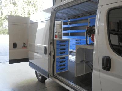 aménagement pour atelier mobile
